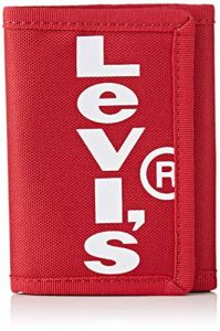LEVIS FOOTWEAR AND ACCESSORIES homme Oversized Red Tab Trifold Sac et portefeuille Rouge (B Red) de la marque LEVIS+FOOTWEAR+AND+ACCESSORIES image 0 produit